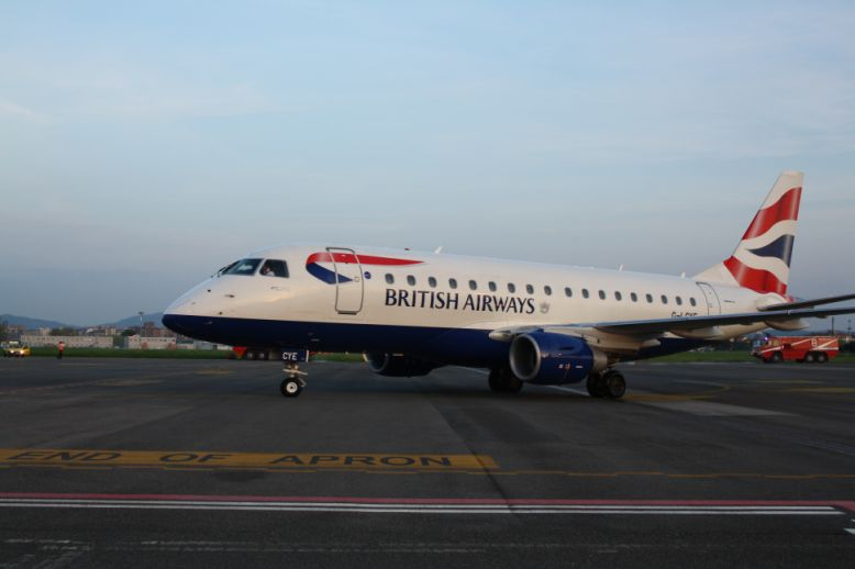 Inauguration yesterday of british airways' new florence– london city route