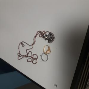 LF 3638 rings and necklace
