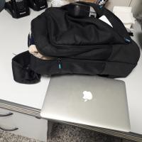 LF 3642 black backpack and laptop
